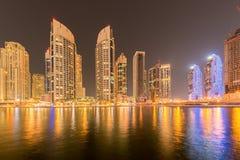 Das Dubai - 10. Januar 2015: Jachthafenbezirk an Lizenzfreie Stockfotografie
