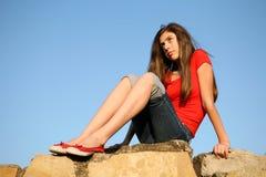 Das durchdachte Mädchen Lizenzfreie Stockfotos