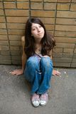 Das durchdachte Mädchen Lizenzfreies Stockfoto