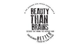 Das durchschnittliche Mädchen würde eher Schönheit als Gehirne haben lizenzfreie abbildung