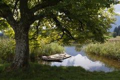 Das Eglsee nahe Abtenau Stockbilder