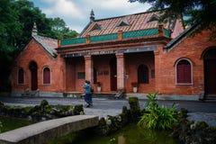 Das ehemalige Teil des Universität von Oxfords-Colleges jetzt von Aletheia-Universität in Tamsui-Bezirk neues Taipeh Taiwan lizenzfreies stockbild