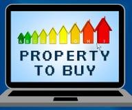 Das Eigentum, zum der Darstellung des Verkaufs zu kaufen bringt Illustration 3d unter Lizenzfreie Stockfotografie
