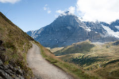 Das Eiger in den Schweizer Alpen Lizenzfreies Stockfoto