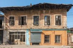 Das ein alte Haus in der albanischen Stadt Shkodra Lizenzfreies Stockfoto