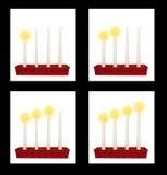 Das Einführung candelaber als die Schweden beleuchten die vier Sonntage vor Weihnachten Lizenzfreie Stockfotos