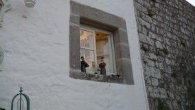Das einfache und stilvolle Fenster kann gesehen werden Lizenzfreies Stockfoto