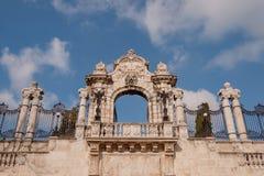 Das Eingangstor zu Buda Castle Stockfotos