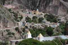 Das eingeborene Dorf von Iruya Stockbild