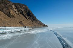 Das einzigartige Eis der Baikalsee nahe Olkhon-Insel Lizenzfreies Stockbild