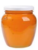 Das einzige geschlossene Glasglas mit Honig Lizenzfreie Stockfotografie
