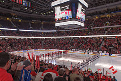 Das Eis-Hockey-Weltmeisterschaft IIHF-Frauen - Goldmedaillen-Match - Kanada V USA stockbilder