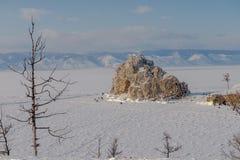 Das Eis vom Baikalsee, Russland im März 2018 Lizenzfreie Stockbilder