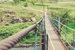 Das Eisenseil wird ausgedehnt lizenzfreie stockfotografie