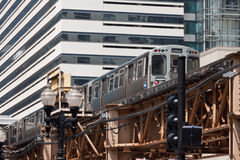 Das EL in Chicago Stockfotografie