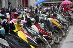 Das electromotion Motorrad Stockbild