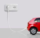 Das elektrische Auto stockfotos