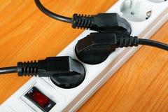 Das elektrische Extensionsstück lizenzfreie stockbilder