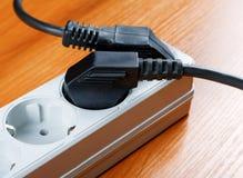 Das elektrische Extensionsstück stockbilder