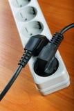 Das elektrische Extensionsstück stockfoto