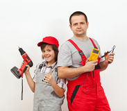 Das elektrische Team Lizenzfreie Stockbilder