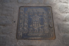 Das Emblem Segovia Lizenzfreies Stockfoto