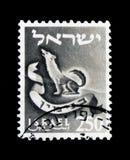 Das Emblem von Benjamin-Stamm, Stämme - die Embleme des zwölf Stämme serie, circa 1956 Lizenzfreies Stockfoto
