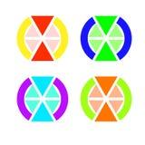 Das Emblem von Dreiecken, von denen zwei mehr als irgendein anderes sind Stockfoto