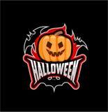 Das Emblem von Halloween Lizenzfreie Stockfotos