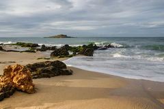 Das Ende des Strandes Stockfoto