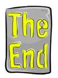 Das Ende? geschrieben auf eine alte Schreibmaschine und ein altes Papier Lizenzfreies Stockfoto