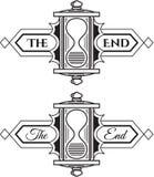 Das Ende? geschrieben auf eine alte Schreibmaschine und ein altes Papier Lizenzfreie Stockfotografie