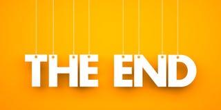 Das Ende - Wort, das am Seil hängt Stockbilder