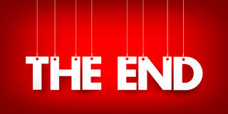 Das Ende - Wort, das am Seil hängt Lizenzfreies Stockfoto