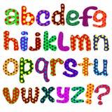 Das englische Alphabet auf einem weißen Hintergrund Stockbilder