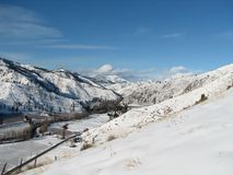 Das Entiat Tal oben schauen Stockfotografie