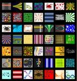 Das entscheidende Retro- Muster-Hintergrund-Set Stockbilder