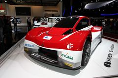 Das Entwicklungs-Konzeptauto Mitsubishis MiEV Stockbilder