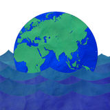 Das Erdeschwimmen Stockfotografie