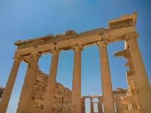 Das Erechtheion oder das Erechtheum ist ein altgriechischer Tempel lizenzfreies stockbild