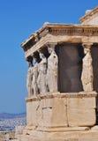 Das Erechtheum, Athene stockbild