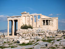 Das Erechtheum mit Karyatiden in der Akropolise Stockbild