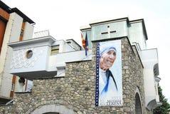 Das Erinnerungshaus von Mutter Teresa in Skopje lizenzfreie stockbilder
