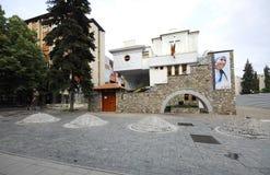 Das Erinnerungshaus von Mutter Teresa in Skopje stockbilder
