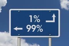 Das 1% ERS gegen das 99% ERS Stockfotos
