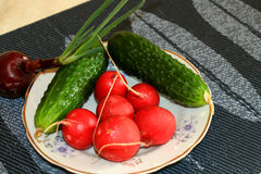 Das erste Gemüse Stockfotografie