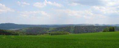 Das Erzgebirge im Frühjahr Stockfotos