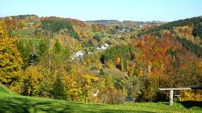 Das Erzgebirge im Herbst Stockfotografie