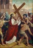 2das estaciones de la cruz Imágenes de archivo libres de regalías
