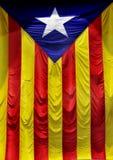 Das Estelada, die katalanische Markierungsfahne Lizenzfreies Stockfoto
